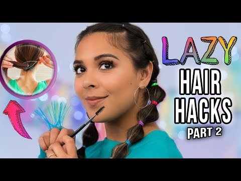 Lazy 1- MINUTE Hairstyle Hacks EVERYONE Should Know!