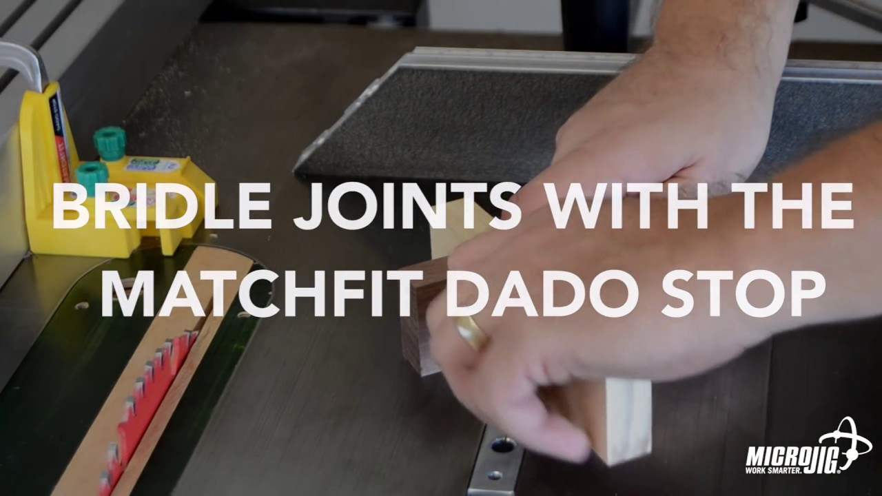 dovetail bridle joint. how to make bridle joints with the matchfit dado stop by microjig dovetail joint