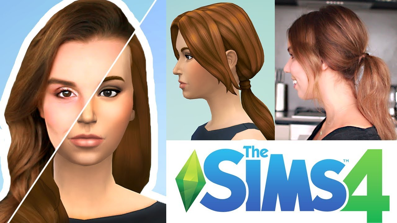 Trying Hairstyles From The Sims 4 in Real Life! - YouTube