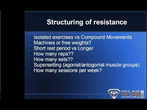 How to structure resistance training/supplementation for SUSTAINED rapid fat loss