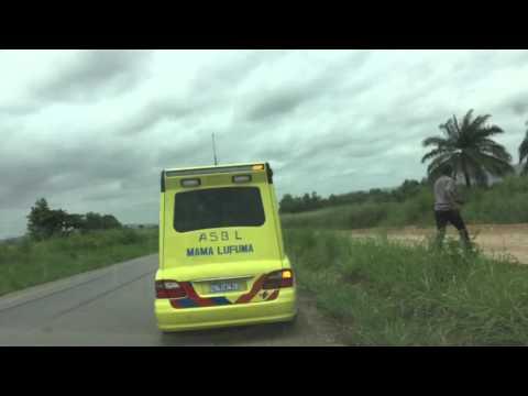 Vzw Mama  Lufuma : Voyage de l'ambulance de Kinshasa à Matadi