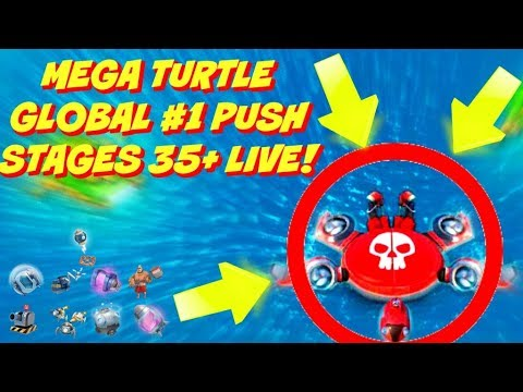 MEGA TURTLE RISES! STAGES 35+ LIVE :: GLOBAL LEADERBOARD PUSH :: BOOM BEACH NEW EVENT UPDATE!