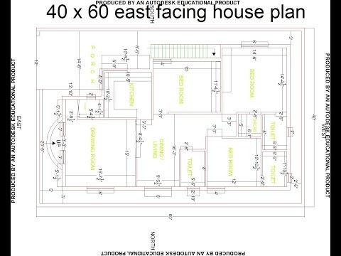 best 40 x 60 east facing house plan   best east facing house design   HP-2