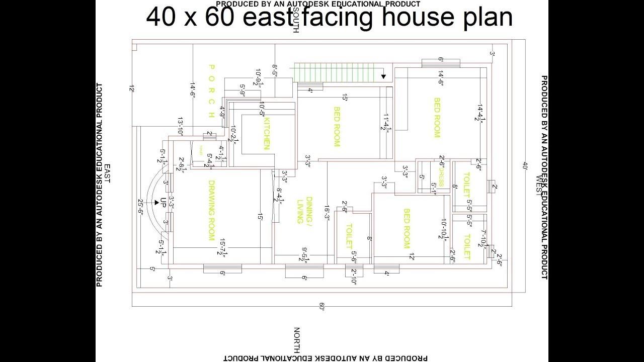 Best 40 X 60 East Facing House Plan
