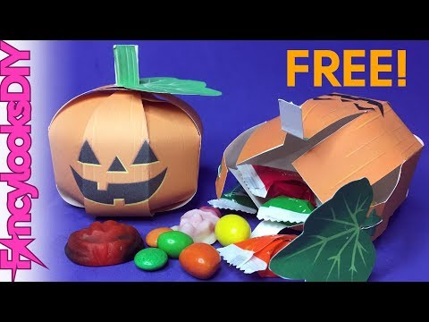 DIY Easy paper pumpkin treat Box (FREE TEMPLATE)
