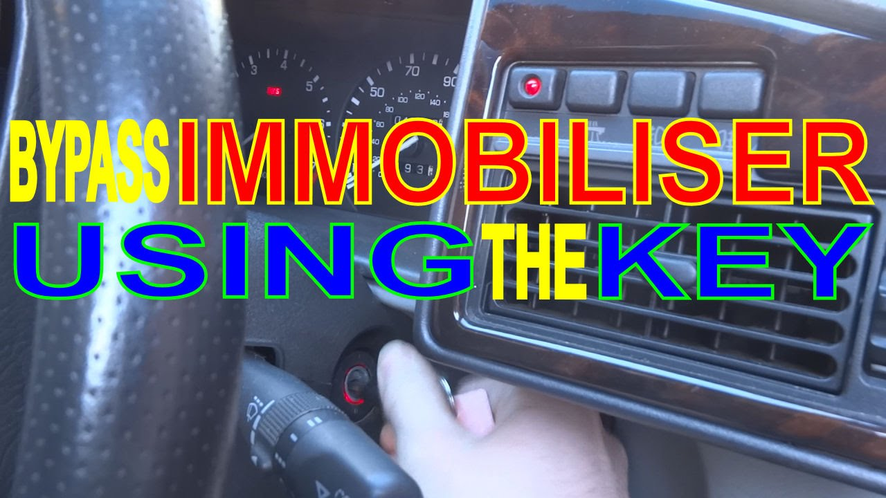 Immobiliser Not Working? Car Won't Start! Key Fob Faulty? Bypass Alarm with Key!  YouTube
