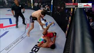 PFL3 DC: Fight 2 - Magomedov kicks  Villefort