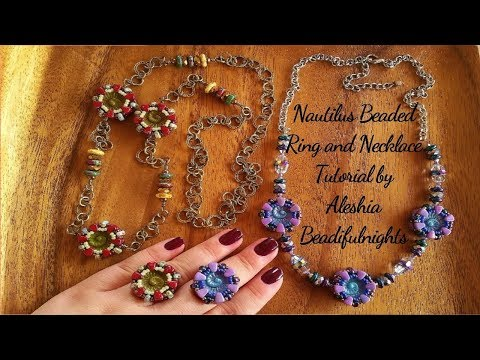 Nautilus Beaded Ring and Necklace Tutorial