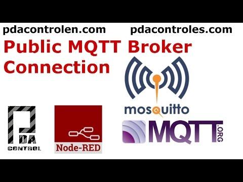 ESP8266 & Public MQTT Broker mosquitto org & Node-RED - PDAControl