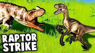 RAPTORS vs CERATOSAURUS!  Dinosaur Battles! (Jurassic World Evolution Gameplay Ep 2)