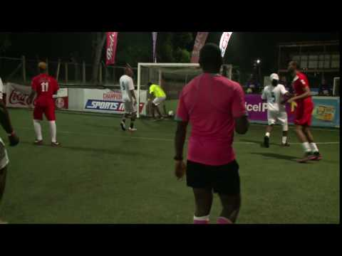 Olympic silver medalist Germaine Mason scores for Big Deal team | Celeb 6-A-Side