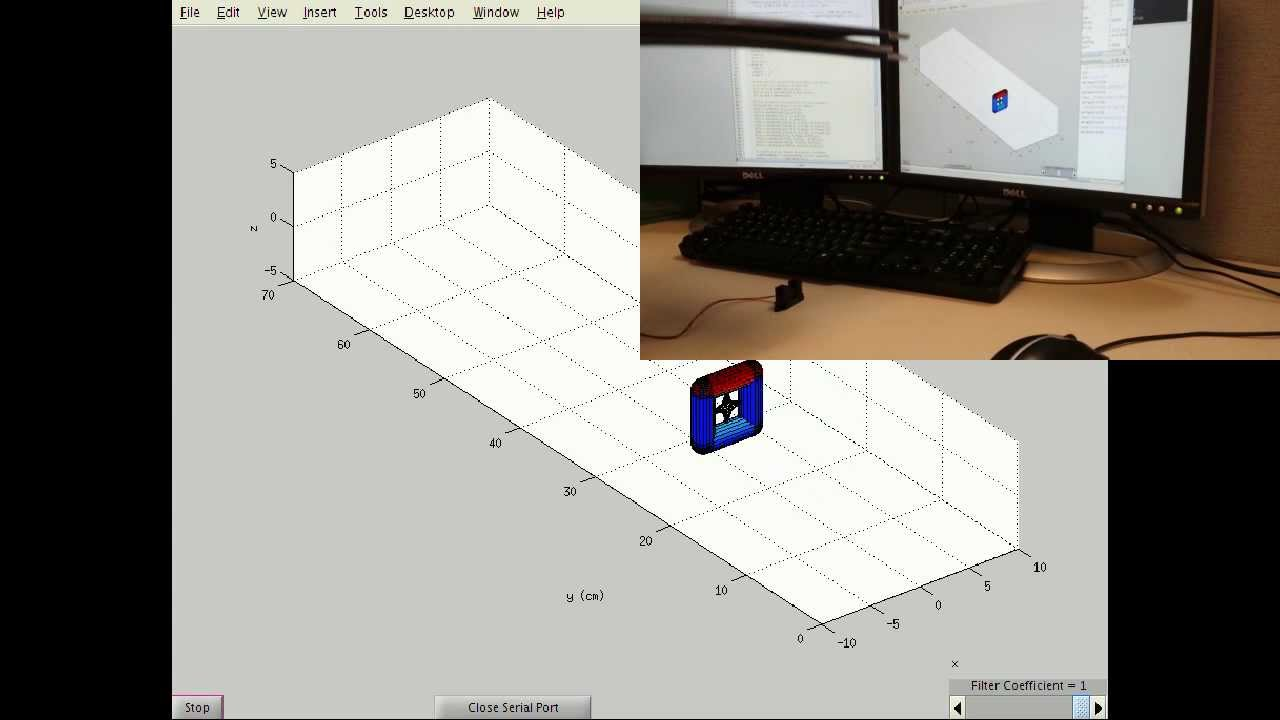 MATLAB Arduino Tutorial 9 - Real-time 3D visualization of Sharp 2Y0A02  Infrared Sensor data