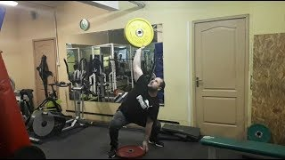 Доношение 55 кг. Three plates two hands anyhow - 55 kg.