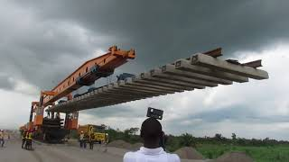 Amaechi Inspect Lagos-Ibadan Railway Track Laying.