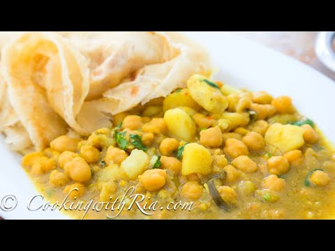 CURRY CHANNA AND ALOO | CURRY CHICKPEAS WITH POTATO