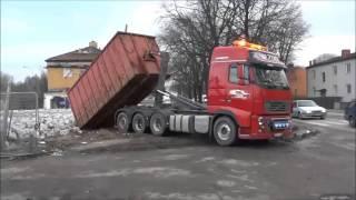 Вывоз строительного мусора с помощью крюкового погрузчика Multilift XR(Мультилифт-системы тяжелой серии Multilift XR (Hiab Multilift в Украине - http://www.hiab.ua) грузоподъемностью до 30 тонн оснаще..., 2016-02-25T17:46:30.000Z)