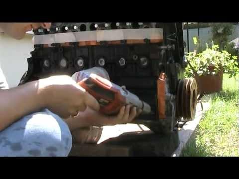Volvo diesel D24 engine paint prep work !