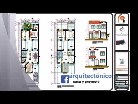 Plano de casa en terreno de 7 x 20 metros youtube for Planos de casas 6x20