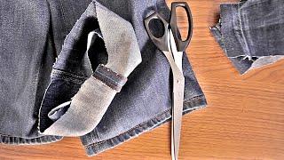 КАК ПОДШИТЬ ДЖИНСЫ ДОМА | DIY рукавички манифтв