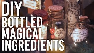 How to Make Halloween Decor - Bottled Magic Ingredients: DIY