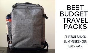 Best Budget Travel Packs: Amazon Basics Slim Weekender Travel Backpack Review