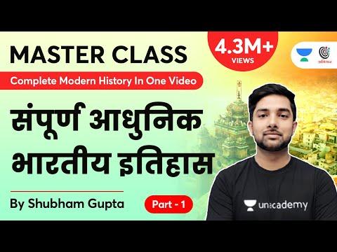 Complete Modern History In One Video | संपूर्ण आधुनिक भारतीय इतिहास एक वीडियो में  | Part 1 | Master
