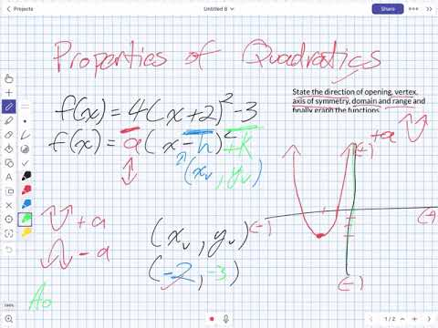 Quadratic Properties NO SOUND (Grade 11 University)