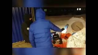 Снегоуборщик Daewoo против сибирской зимы