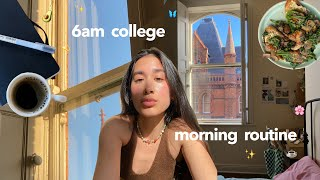 my 6am college morning routine 🌿✨ (on a good day)