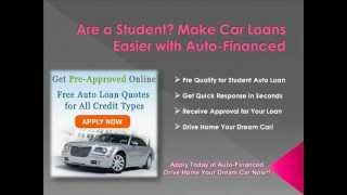 Car Loans for Student with Bad Credit History - Guaranteed Approval