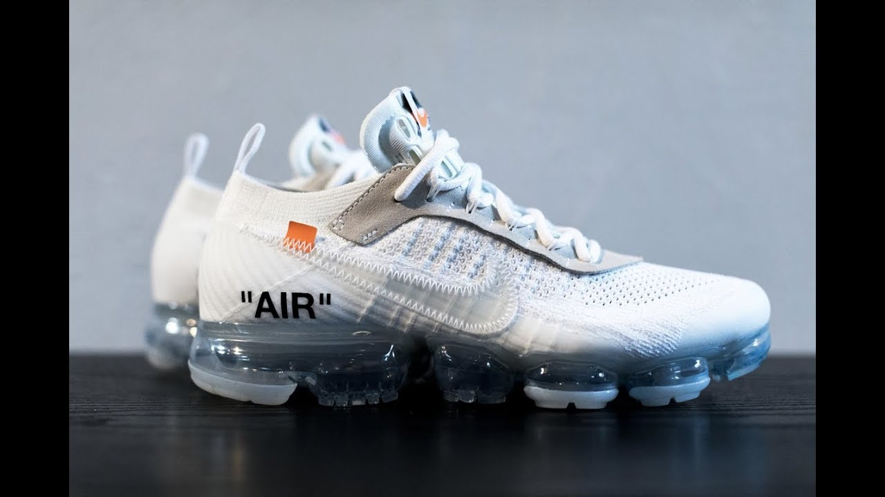 OFF WHITE X NIKE AIR VAPORMAX WHITE FROM YouTube