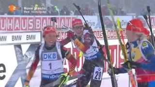 08.02.2015 Biathlon Nove Mesto Verfolgung Damen Winner Daria Domracheva(full)