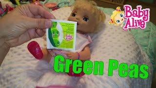 BABY DARBEE EATS BABY ALIVE FOOD GREEN PEES AND POOPS DIAPER-GROSS!