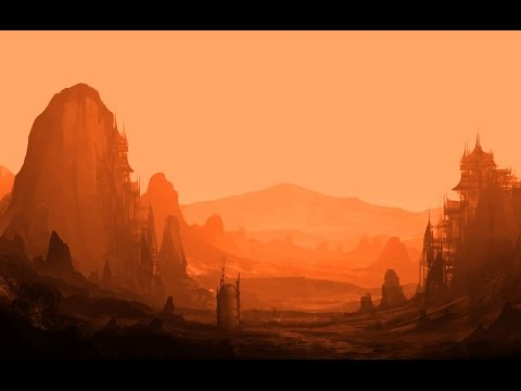Photoshop Speedpaint – Desert Planet