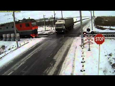 Kazakhstan truck & train collision