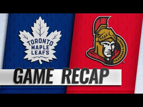 Ennis scores twice in Leafs' 4-1 win over Sens