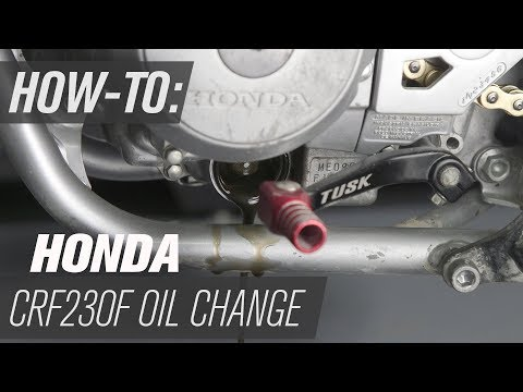 How To Change The Oil On A Honda CRF230F - YouTube