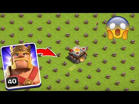 Max King & Rage Spell Vs Full Base Cannon Attack On COC Private Server Clash A RAMA!