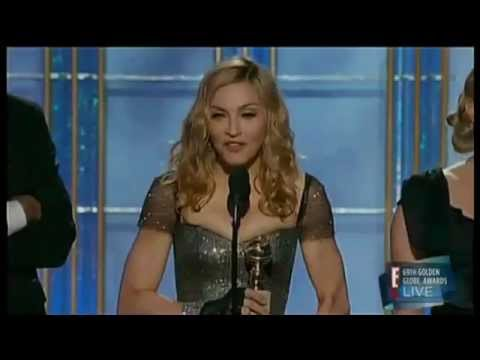 "Madonna winning the golden globe 2012 for the best original song (""Masterpiece"" from ""W.E.)"