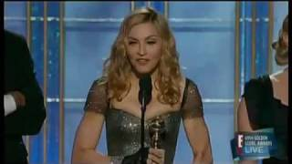 """Madonna winning the golden globe 2012 for the best original song (""""Masterpiece"""" from """"W.E.)"""