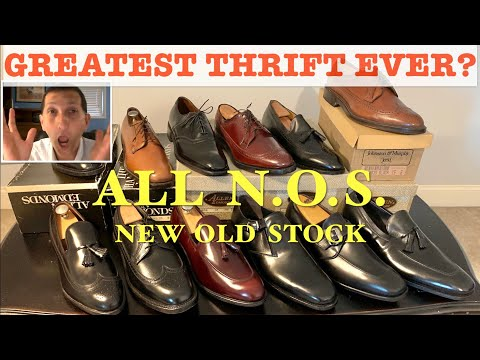 Greatest Thrift Score I Ve Ever Seen 12 Nos Vintage Shoes Youtube