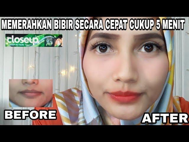 Cara Memerahkan Bibir Hitam Dengan Cepat Mengunakan Pasta Gigi Closeup Gula Youtube