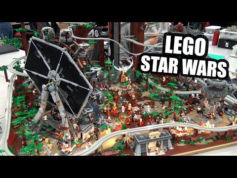 LEGO Ewok Adventure Land With Roller Coaster & Monorail!