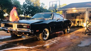 Night time driving my 1969 Dodge Charger (GoPro first person view) B Body Project