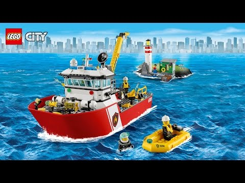 LEGO City 60109 Brandweerboot 3D Review