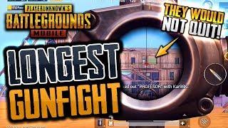 LONGEST GUNFIGHT EVER in PUBG Mobile