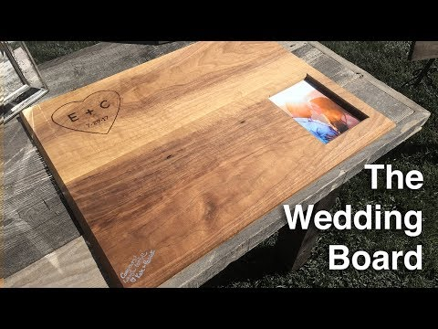 How To Make A Wood Wedding Guest Book | The Wedding Board