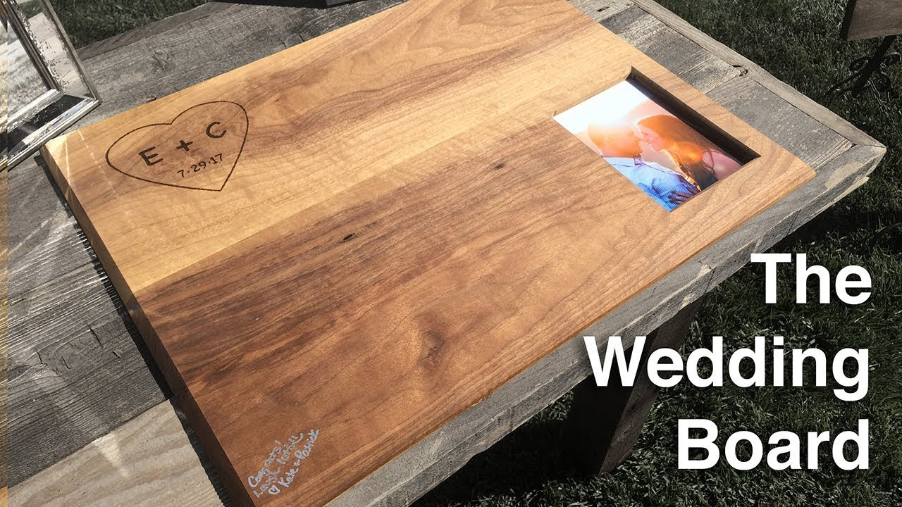 How To Make A Wood Wedding Guest Book The Wedding Board