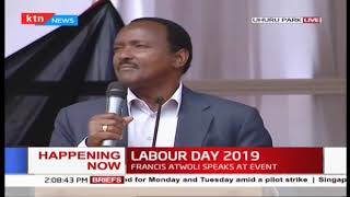 Hon Kalonzo Musyoka\'s speech during 2019 Labour Day Celebration