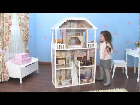 Casa de mu ecas savannah kidkraft 65023 youtube - Como hacer plano de casa ...